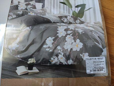 Komplet pościeli satyna bawełniana 200x220 , Prześcieradło gratis