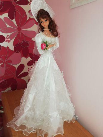 Lalka duża w sukni ślubnej