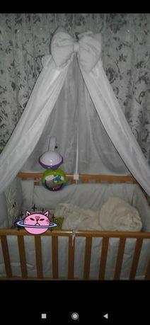 Бортики для дитячого ліжечка усе набором як на фото колір білий з сіри