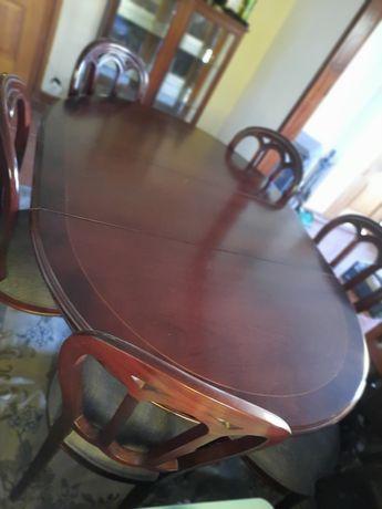 Conjunto de mesa, aparador,  6cadeiras