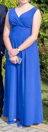 Chabrowa długa sukienka roz. 40