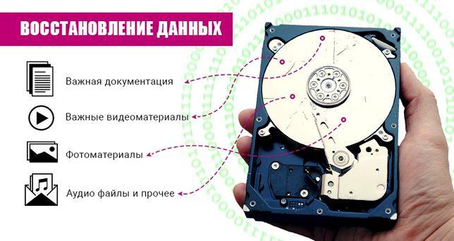 Восстановление данных, фотографий, документов с жестких дисков, флешек