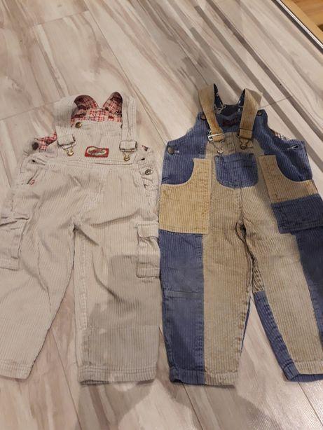 Spodnie sztruksowe 92 98 szelki sztruks na szelkach