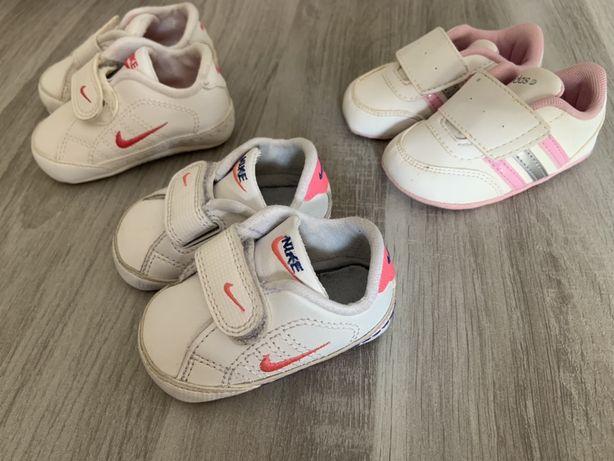 Sapatilhas menina 0 a 6 meses Nike e Adidas