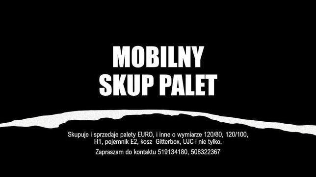 Mobilny skup  sprzedaż palet, paleta, palety