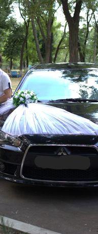 Украшение  на авто на свадьбу