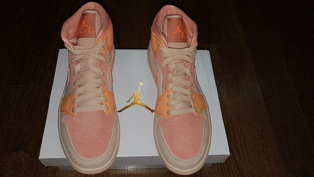 Air Jordan 1 Mid Apricot Orange Rozmiar: 40.5