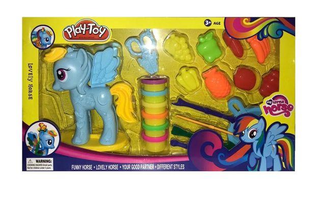 Zestaw Play-Toy Ciastolina Kucyk dla Dzieci Zabawka