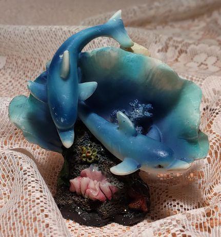 Figurka delfiny (delfinki) z dawnych lat do kolekcji dla dzieci...