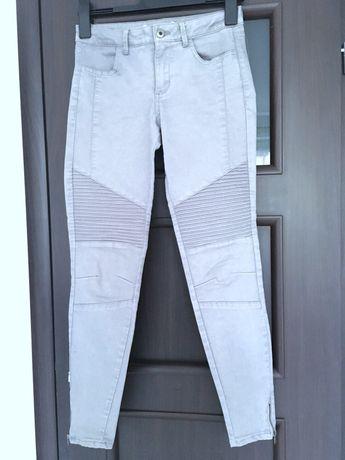 Szare spodnie rurki Zara M 38