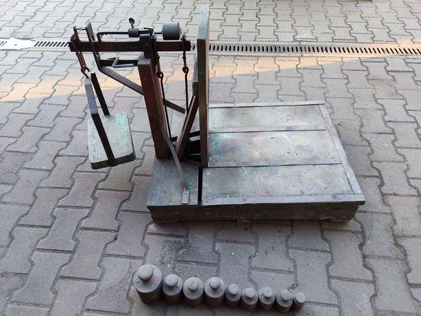 Drewniana waga towarowa z odważnikami 15,5kg