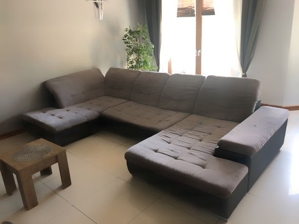 Duża kanapa narożnik sofa rozkladana