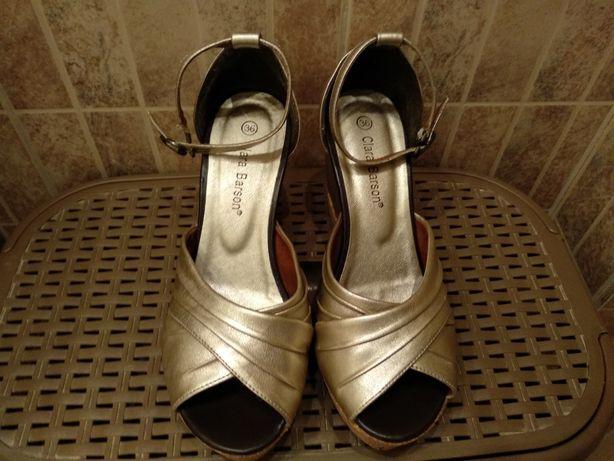 Buty damskie r.36 złote