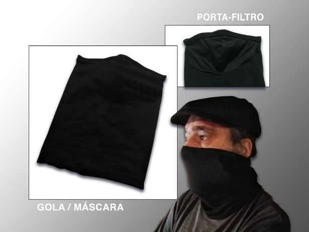 Gola/Máscara lisa(com porta-filtro interior)