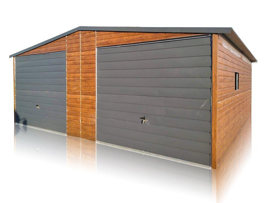 Garaż blaszany 7x7 blacha drewnopodobna garaże blaszaki różne rozmiary Środa Wielkopolska - image 1