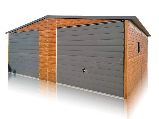 Garaż blaszany 7x7 blacha drewnopodobna garaże blaszaki różne rozmiary