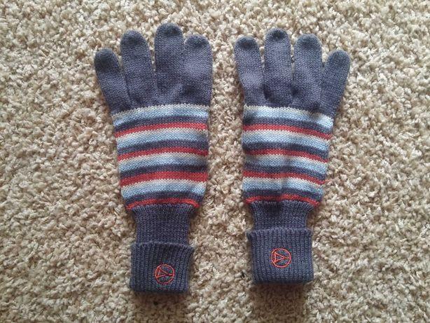 Nowe damskie rękawiczki zimowe Diverse szare paski