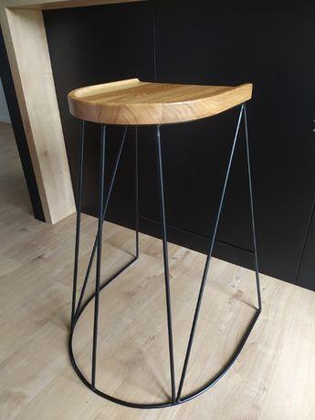 Hoker, krzesło barowe loftowe industrialne