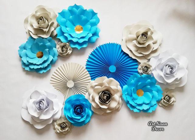 Papierowe kwiaty dekoracyjne