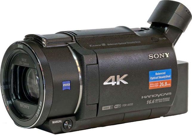 Kamera Sony Handycam 4K FDR-AX53 + akcesoria(statyw, karta pamieci, ak