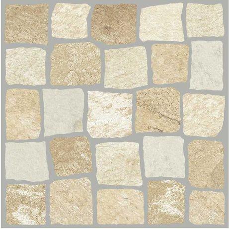 Mosaico imitação de calçada em 1ª