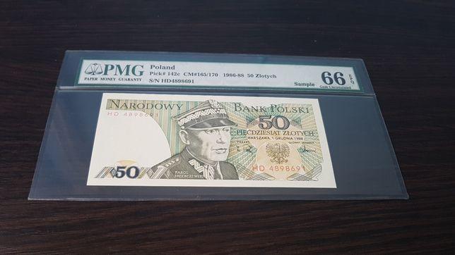 PMG Banknot wzór 50zł PRL unikat