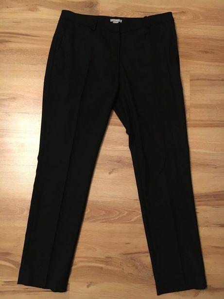 Spodnie r. 40 H&M czarne w kant