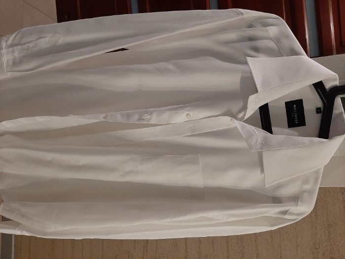 Koszula męska wólczanka biała kołnierzyk 45, wzrost 188-194 Milanówek - image 1