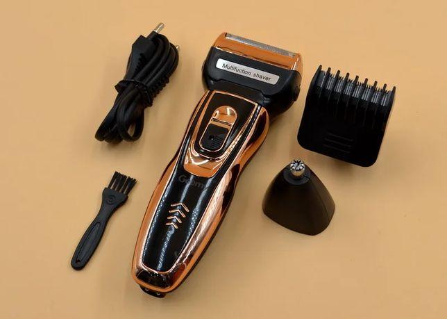 Машинка для стрижки волос ProGemei GM-595, триммер, бритва, 3в1