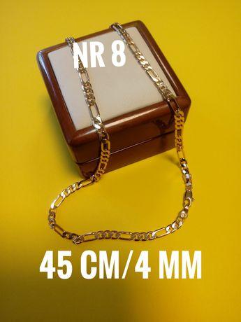 Złoty łańcuszek, stal chirurgiczna, 45 cm/4 mm