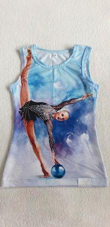 Bluzka do gimnastyki rozmiar 140 cm