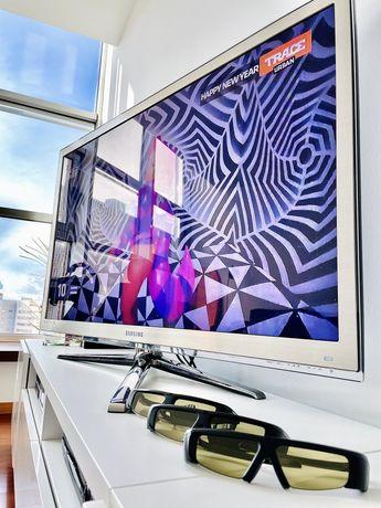 "Televisão Samsung 3D 46"" + 3 Óculos + Leitor Blu-Ray (3D)"