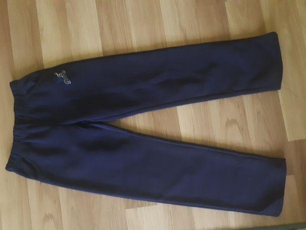 Spodnie ocieplane granatowe