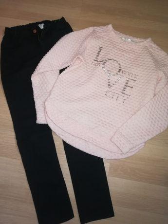 Spodnie rurki H&M, bluzka Pepco