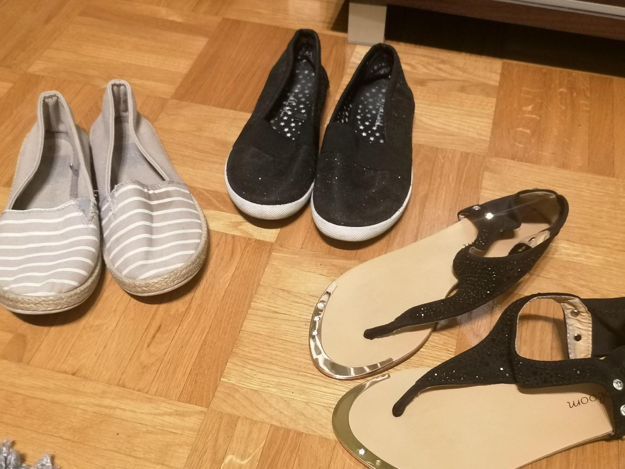 Zestaw 3szt tenisówki i sandały r. 35, 36 i 37
