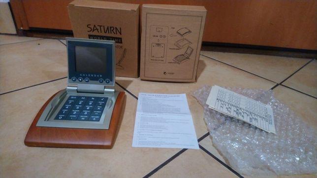 NOWY Saturn zegarek drewniany na biurko Holenderski z kalkulatorem