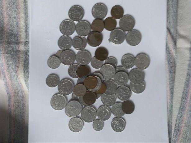 Monety PRL od 10 gr do 5 zł. Ok. 200 g. Lata 60, 70, 80.