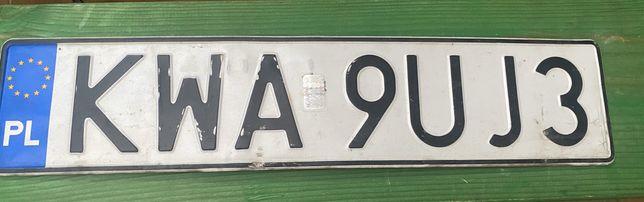 Znaleziona tablica rejestracyjna Andrychów