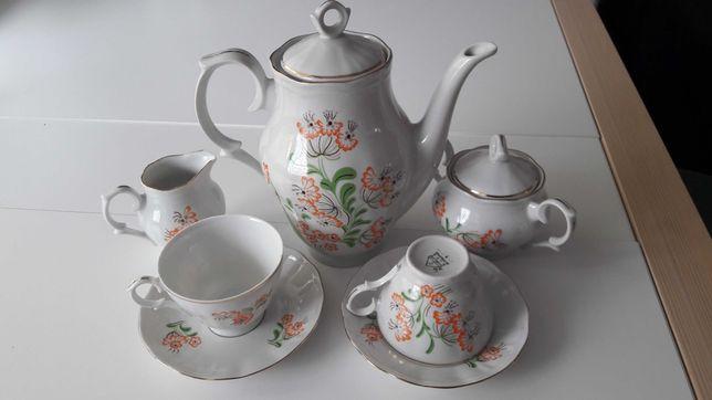 serwis Mariell dla 6 osób - porcelana Ćmielów, Wincenty Potacki, folk