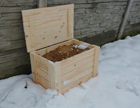 Drewniany Pojemnik Kufer na Piach Piasek Borax SÓL M 120x50x50 350L