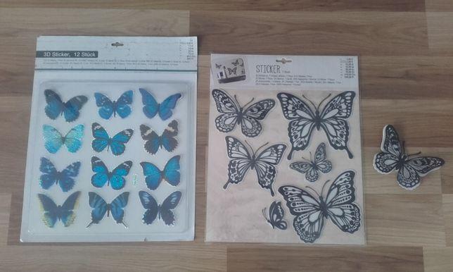 Nowe Naklejki motylki 3d gotowe do przyklejenia na ścianę