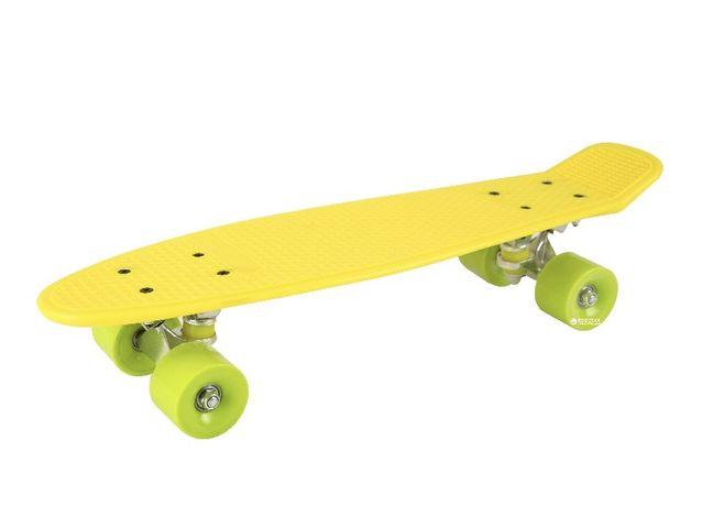 Пенни борд Shantou Penny Board Желтый с салатовыми колесами