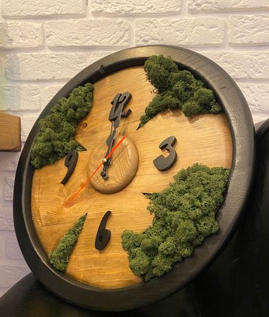 ЭКО Часы из мха, стабилизированный мох, эксклюзивная ручная робота