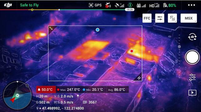 Dron z kamerą termowizyjną - wynajem / usługi
