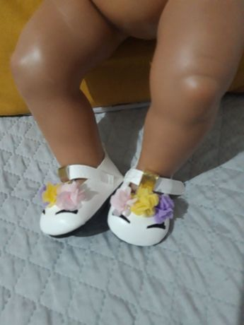 buciki dla lalki 43cm śliczne