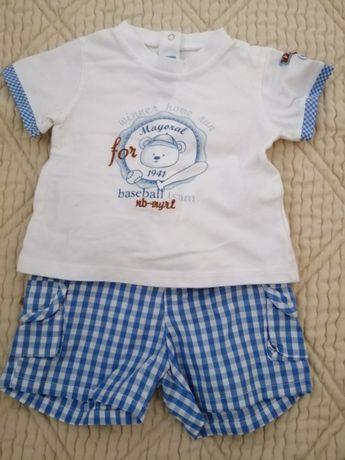 """Conjunto como novo """"ursinho"""" 2-4 meses menino"""