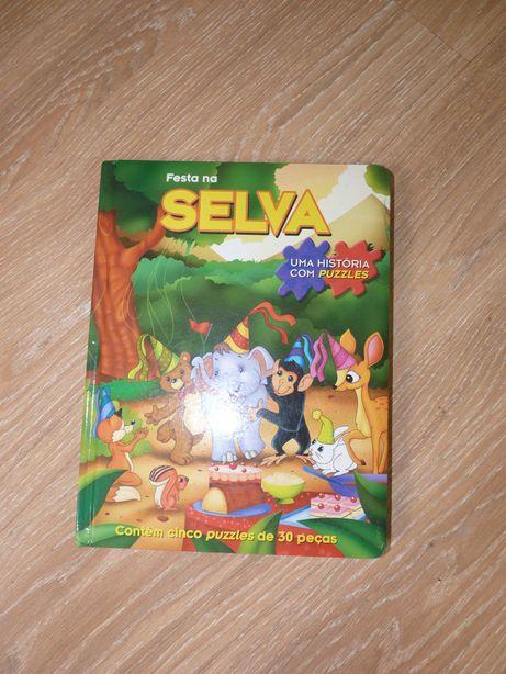 Festa na selva uma história com puzzles