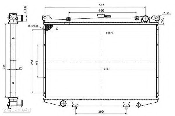 Radiador Água Nissan Pickup D21 SD23 SD25 NOVO