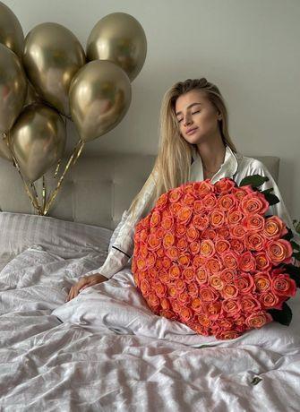 101 троянда АКЦІЯ1250грн Безкоштовна доставка квітів рози оптом