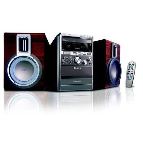 PHILIPS mcm 760 magnetofon kaset + CD radio MP3,2-drożny bass reflex